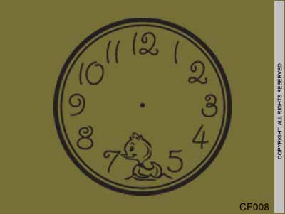 Clock Face Ducky - CF008
