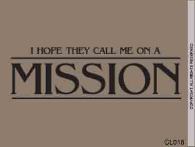 I Hope They Call Me On A Mission - CL018