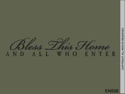 Bless This Home And All Who Enter - EN008