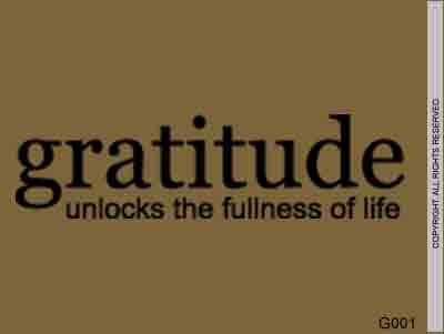 Gratitude Unlocks The Fullness of Life - G001