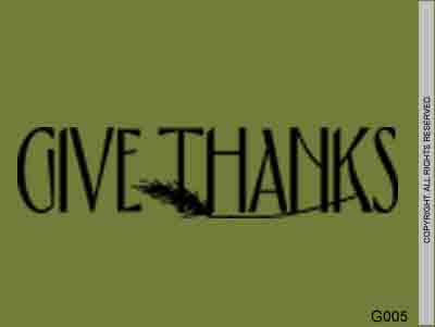 Give Thanks - G005