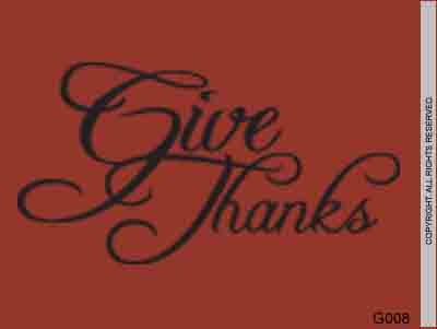 Give Thanks - G008