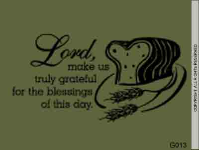 Lord, Make Us Truly Grateful For The Blessing - G013