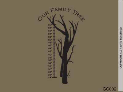 Growth Chart Our Family Tree - GC002