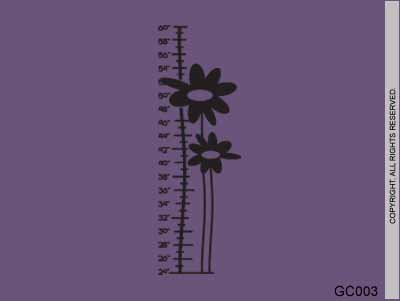 Growth Chart Flowers - GC003