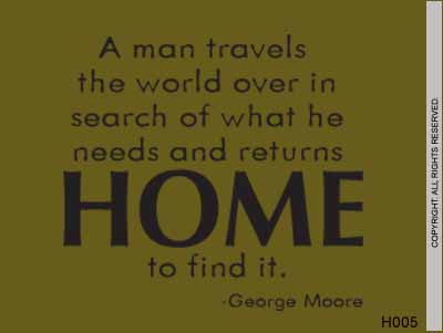 A Man Travels The World Over In Search Of What He - H005