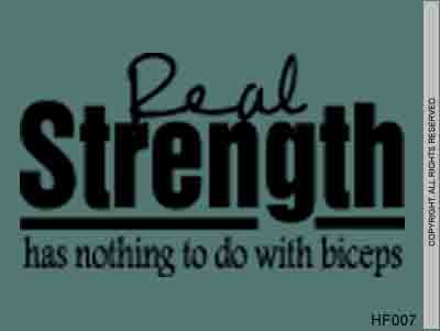 Real Strength Has Nothing To Do With Biceps - HF007