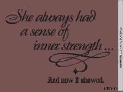 She Always Had A Sense Of Inner Strength... And Now - HF010