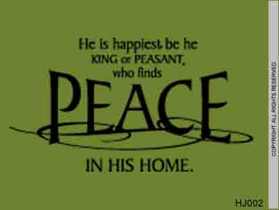 He Is Happiest, Be He King Or Peasant, Who Finds Peace - HJ002