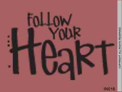Follow Your Heart - IN016