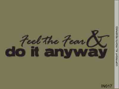 Feel The Fear & Do It Anyway - IN017