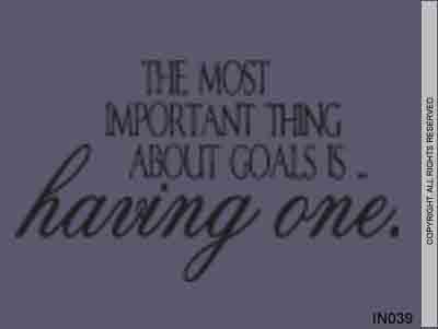 The Most Important Thing About Goals Is... Having One. - IN039