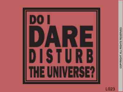 Do I Dare Disturb The Universe? - L023