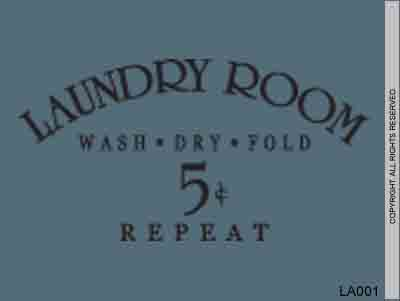 Laundry Room Wash Dry Fold Repeat 5¢ - LA001S