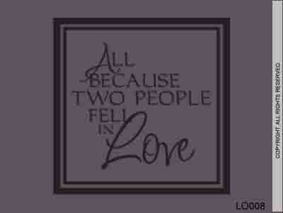 All Because Two People Fell In Love - LO008