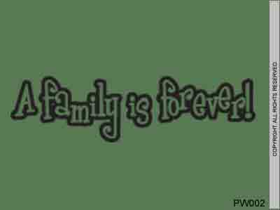 A Family Is Forever! - PW002