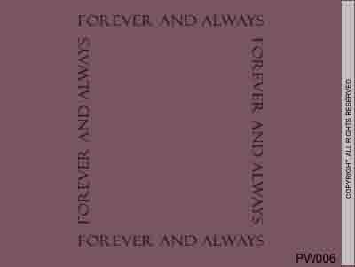 Forever And Always - PW006