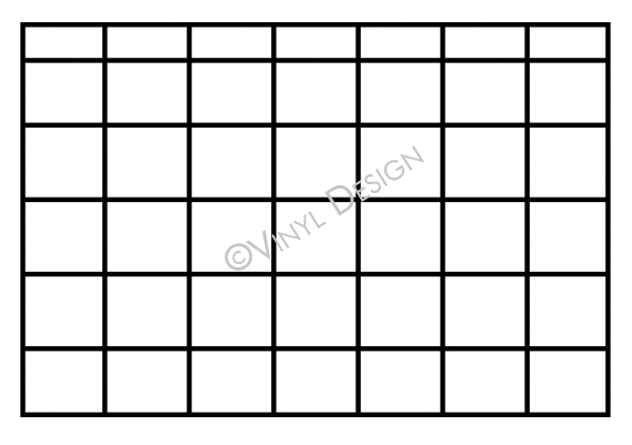 Basic lines for monthly calendar - VRD-CA001