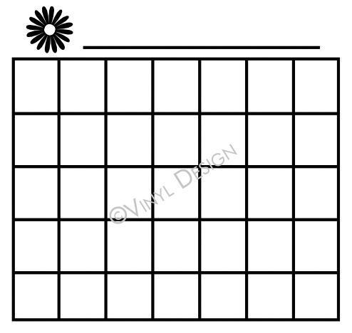 Basic Montly Calendar - Flower - VRD-CA003