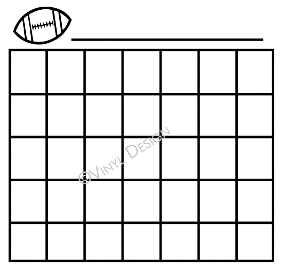 Basic lines for Monthly Calendar - Football, Sports - VRD-CA004