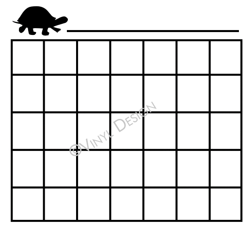 Basic lines for Monthly Calendar - Turtle - VRD-CA005