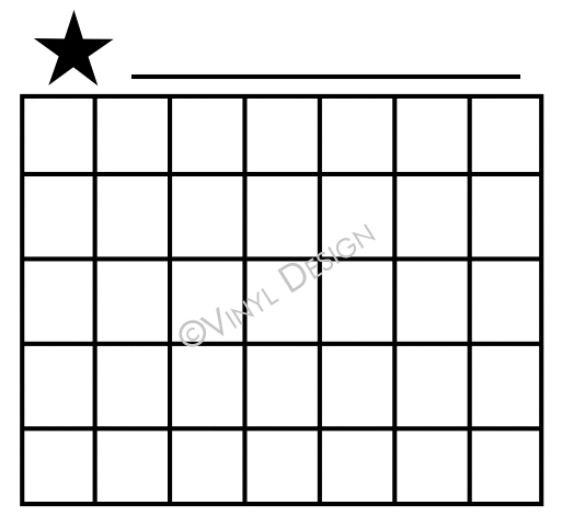 Basic lines for Monthly Calendar - Stars - VRD-CA008