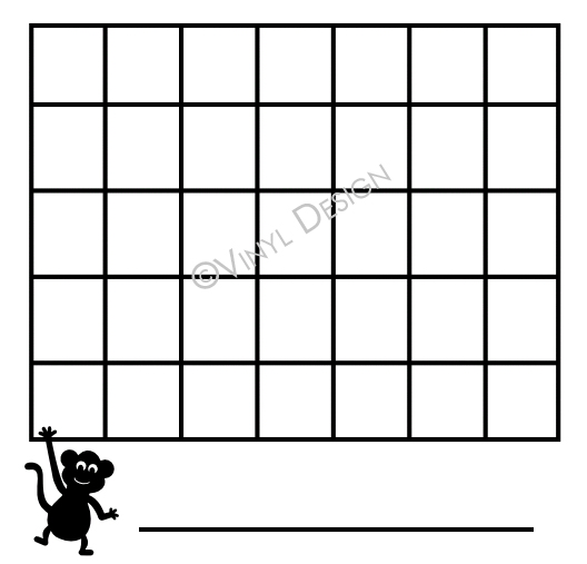 Basic Lines for Montly Calendar - Monkey, Animals - VRD-CA009
