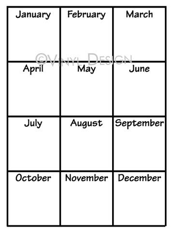 Yearly Calendars With Months - VRD-CA014