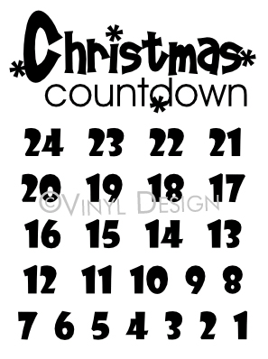 Christmas Countdown Advent - VRD-CA015