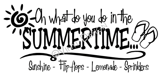 Oh what do you do in the Summertime - Sunshine - Flip F - VRD-HD