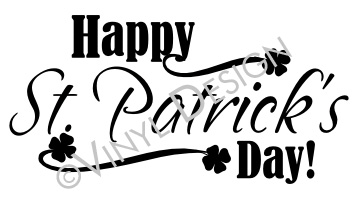 Happy St Patrick's Day - Shamrock, Irish - VRD-HD064
