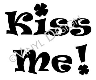 Kiss Me - Shamrock, Irish, St Patricks Day - VRD-HD071
