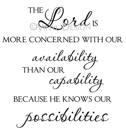 The Lord is More Concerned with Our Availability Than O - VRD-TL