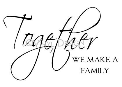 Together We Make a Family - VRD-TL035