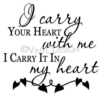 I Carry Your Heart with Me, I Carry It in My Heart - VRD-TL057