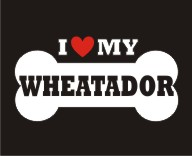 WHEATADOR- Love Bone Dog Breed Sticker Vinyl Decal Vehicle